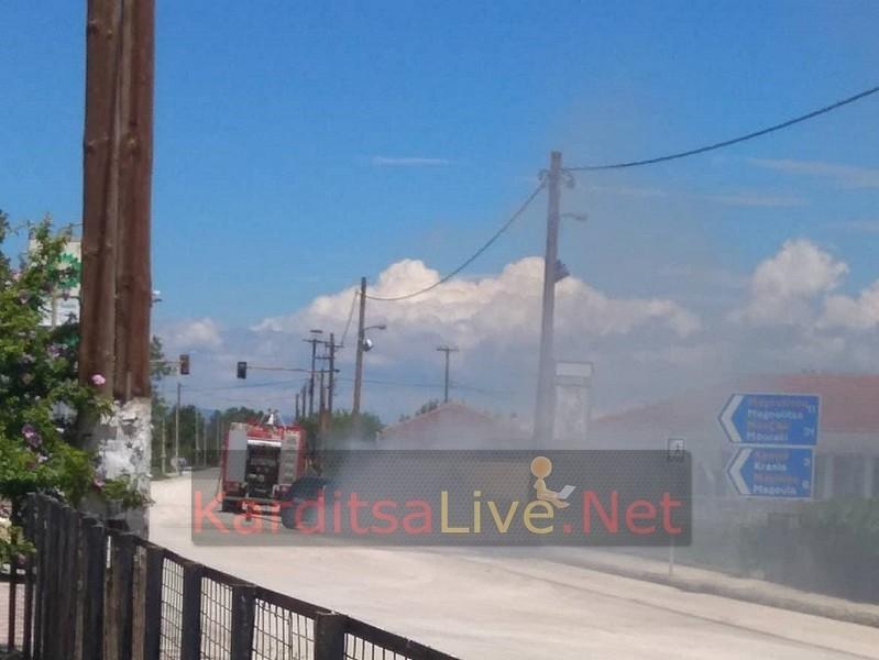 Υλικές ζημιές σε αυτοκίνητο που ανεφλέγη μέσα στο χωριό Ριζοβούνι (+Φώτο)