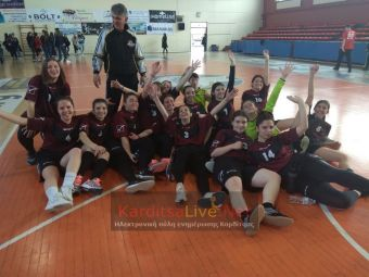 Πρωταθλήτρια ομάδα στο Χάντμπολ κοριτσιών το 1ο ΓΕΛ Καρδίτσας (+Φώτο +Βίντεο)