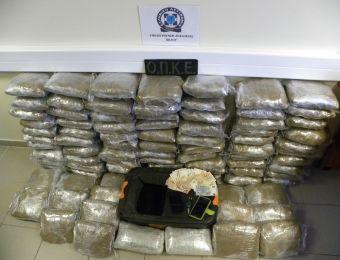 Βόλος: Δύο συλλήψεις για 100 (!) κιλά κάνναβης στην Π.Α.Θ.Ε.