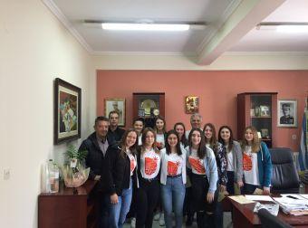 Την γυναικεία ομάδα μπάσκετ του ΓΕΛ βράβευσε ο Δήμαρχος Παλαμά