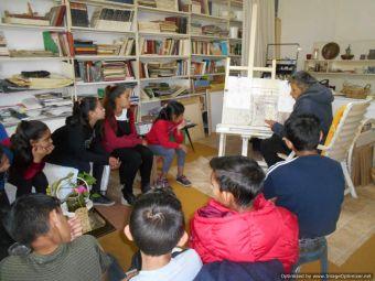 Συνάντηση του 4ου Δημ. Σχολείου Σοφάδων με τη Σοφαδίτισσα ζωγράφο Β. Δόγια