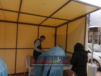 Αρνητικά όλα τα rapid tests στην κεντρική πλατεία της Καρδίτσας το Σάββατο (27/2)