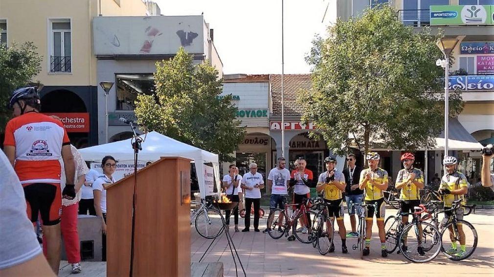 """Οδηγοί και Μ. Οδηγοί του Σώματος Ελληνικού Οδηγισμού στην ποδηλατοδρομία """"Κόκκινη κλωστή με τη ζωή δεμένη"""""""
