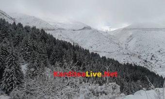 Πυκνές χιονοπτώσεις σημειώθηκαν στα ορεινά της Καρδίτσας