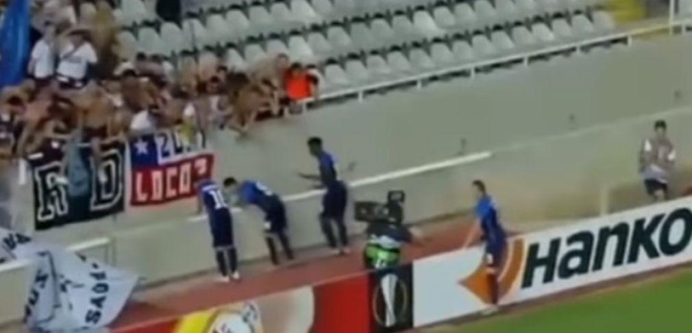 Κύπρος: Πήγε να πανηγυρίσει το γκολ και έπεσε μέσα στην τάφρο του γηπέδου!!! (+Βίντεο)