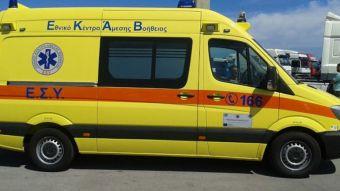 Βόλος: Σοβαρός τραυματισμός δικυκλιστή μετά από τροχαίο