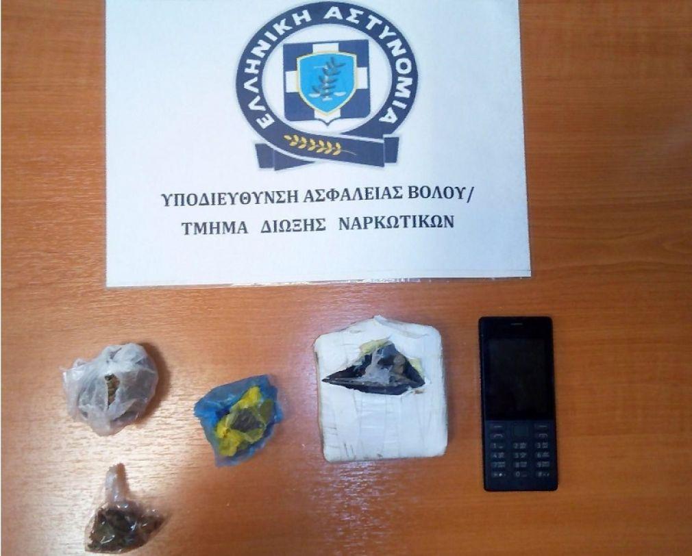 Δύο συλλήψεις για ηρωίνη και κάνναβη στο Βόλο