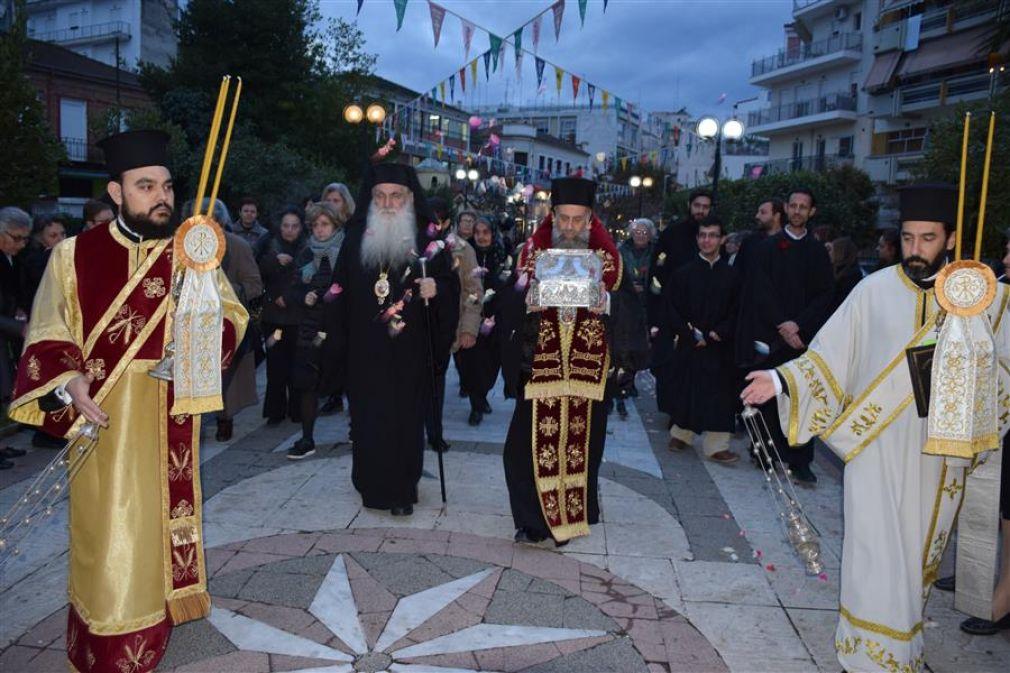 Η Ιερά μας Μητρόπολη υποδέχθηκε τεμάχιο ιερού λειψάνου του Αγίου Λουκά του ιατρού (+Φώτο)