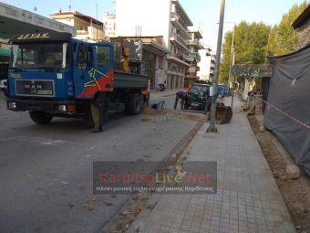 Κλειστό λόγω εργασιών τμήμα της Λ. Δημοκρατίας στην Καρδίτσα (+Φώτο)