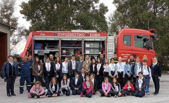 Ενημερωτική επίσκεψη στην Π.Υ. Καρδίτσας από τα παιδιά του Σώματος Ελληνικού Οδηγισμού