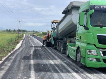 Ολοκληρώνονται οι εργασίες ασφαλτόστρωσης του δρόμου Άγιοι Ανάργυροι - Άγιος Γεώργιος