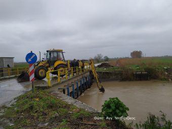 Ελεγχόμενη αλλά και… απειλητική η στάθμη των ποταμών στην Π.Ε. Καρδίτσας (+Φώτο)