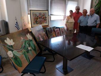 Φίλοι του Νοσοκομείου Καρδίτσας: Δωρεά πινάκων ζωγραφικής