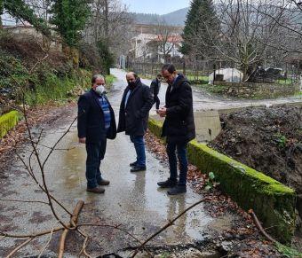 """Αυτοψία Τριαντόπουλου στις ζημιές από """"Ιανό"""" στο Δήμο Λίμνης Πλαστήρα"""
