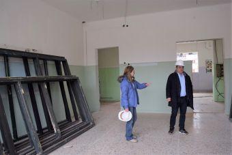 Αυτοψία Β. Τσιάκου στο εργοτάξιο του πρώην 1ου λυκείου όπου κατασκευάζεται το νέο Δημαρχείο της Καρδίτσας