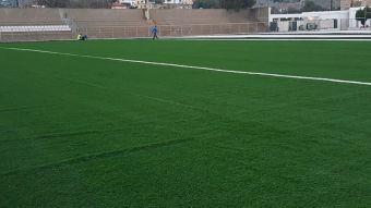 Έλεγχος δειγμάτων χλοοτάπητα για το γήπεδο του αθλητικού κέντρου  Αγ. Νικολάου