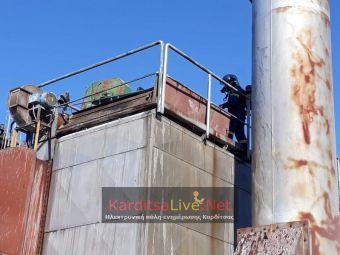Υλικές ζημιές σε εργοστάσιο στον Άγιο Δημήτριο του Δήμου Παλαμά προκάλεσε πυρκαγιά (+Φώτο +Βίντεο)